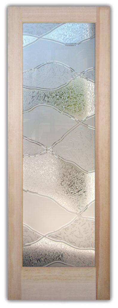 abstract hills 3D interior glass doors