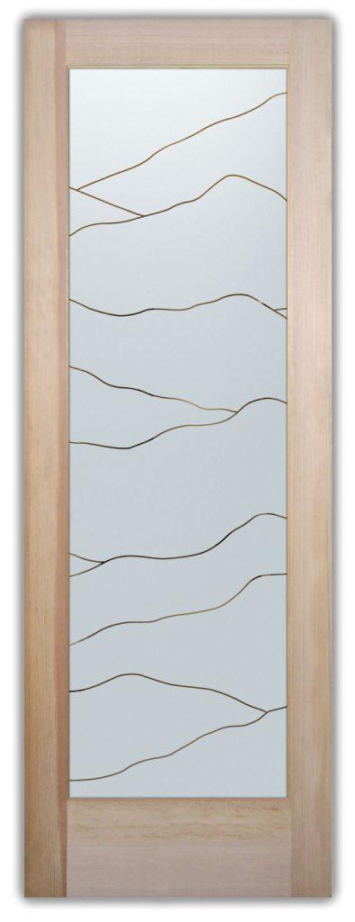 Abstract Hills 1D Negative Front Glass Door