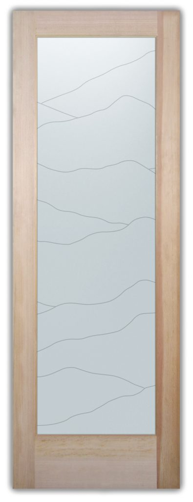 Abstract Hills 1D Private Interior Glass Door