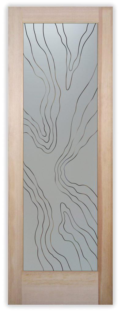 abstract liquid pinstripe pantry door