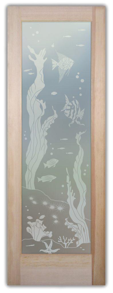 Aquarium Fish 1D Private Etched Glass Door