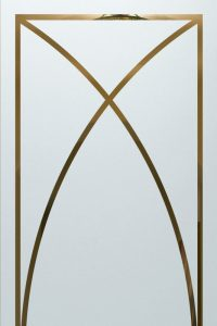 glass etching frosted glass geometric patterns sleek lines traditional decor sans soucie arcs