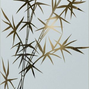 etching glass asian decor bamboo designs