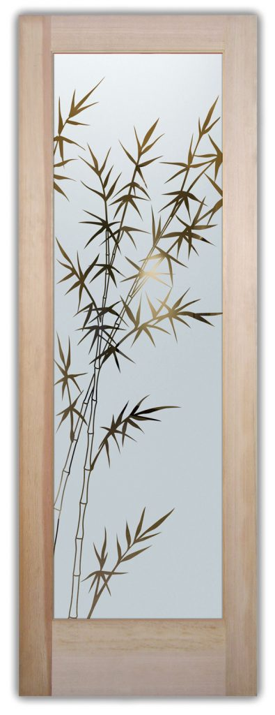 bamboo forest interior glass doors