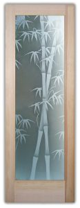 bamboo shoots 2D interior glass doors