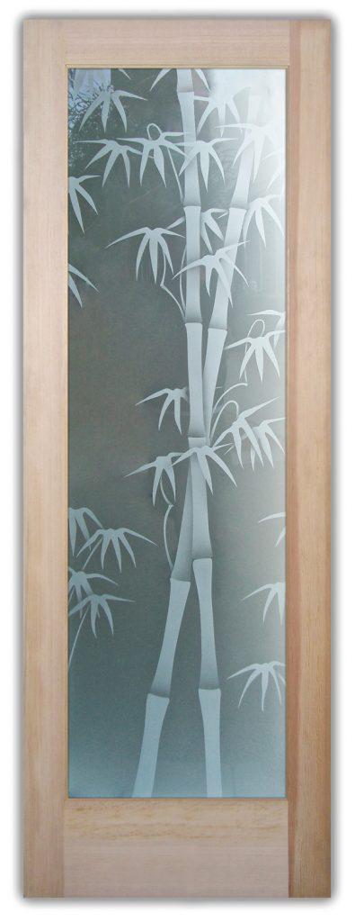 bamboo shoots 2D interior glass doors