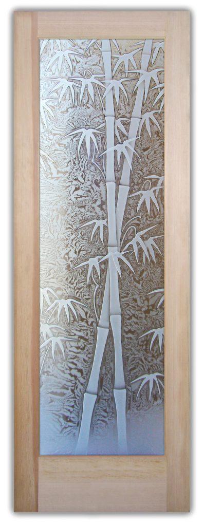 bamboo shoots 3D interior glass doors