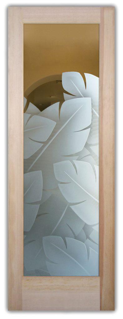 banana leaves interior glass doors