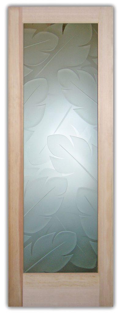 banana leaves 3D interior glass doors
