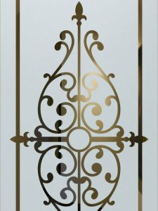glass etching frosted glass iron works gated fence bars tuscan decor sans soucie barcelona