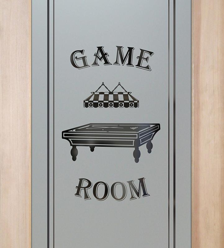 billiards 1D game room door or pantry door
