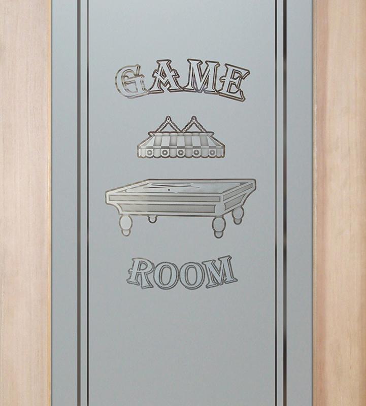 billiards 2D game room door or pantry door