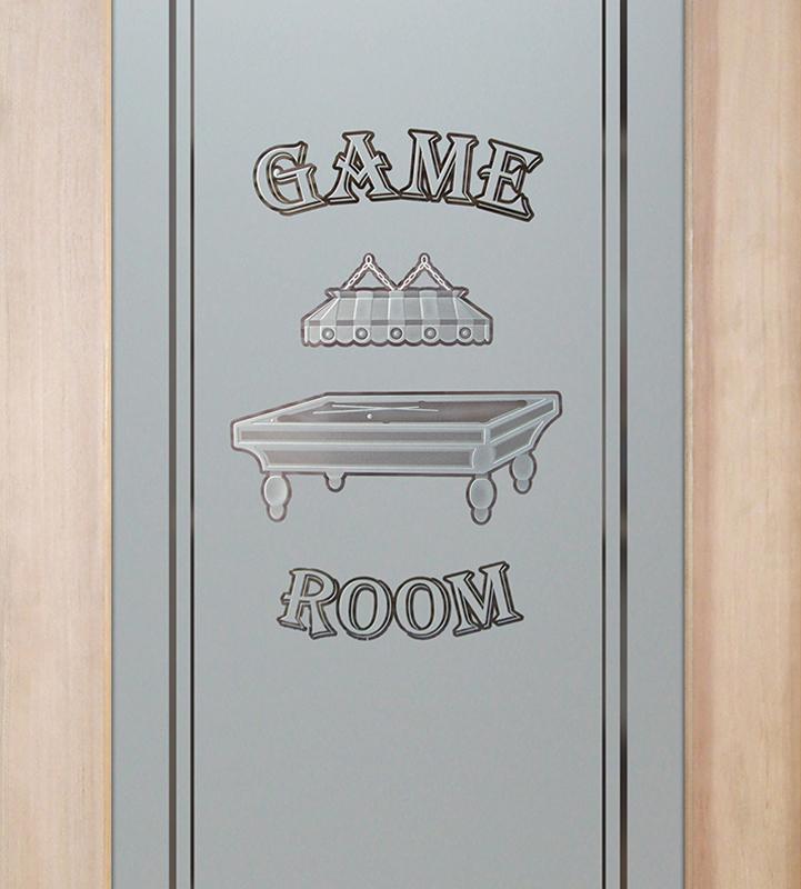 billiards 3D game room door or pantry door
