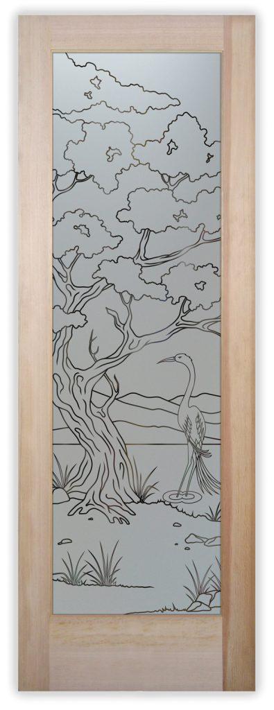 bonsai egret pinstripe pantry door