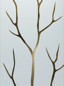 frosted glass tree branches without leaves sandblasted glass rustic style sans soucie branch out