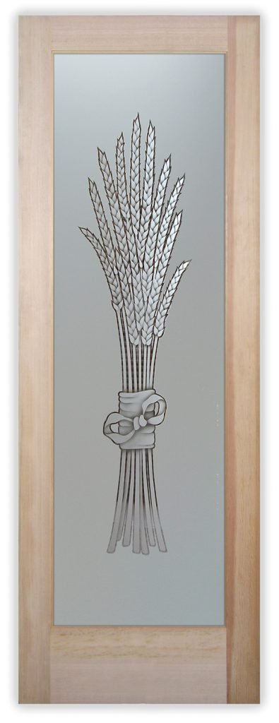 bundled wheat 2D pantry door