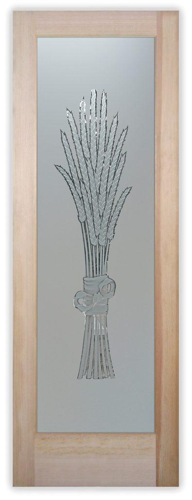 bundled wheat 3D pantry door