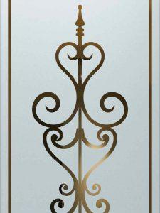 sandblasted glass wrought iron design carmona mediterranean style sans soucie
