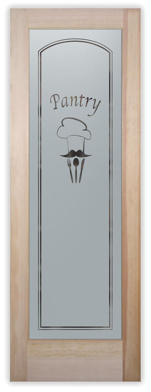 Customize u0026 Buy This Door  sc 1 st  Sans Soucie Art Glass & Chefu0027s Hat Pantry Doors - Frosted Glass By Sans Soucie