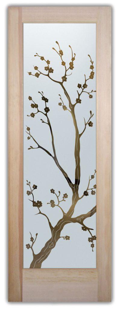 cherry blossom negative interior or exterior glass doors