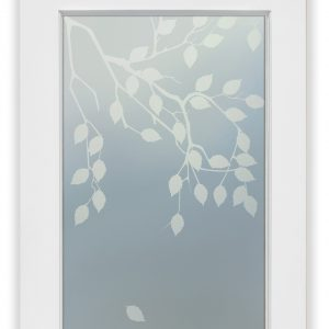 Cherry Tree 1D Private Interior Frosted Glass Door Asian Decor