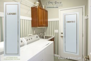 Laundry Room Doors with Solid Frosted Glass Classic by Sans Soucie