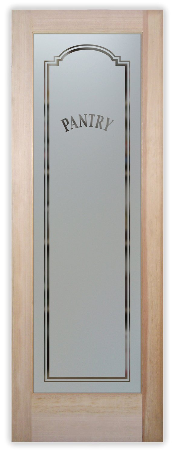 Classic Arched Pantry Door Ii With Custom Frosted Glass