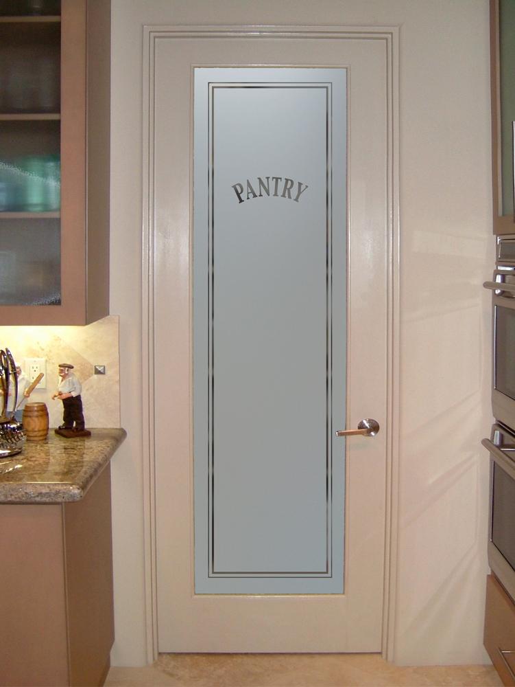Classic Kitchen Pantry Door Sans Soucie Art Glass