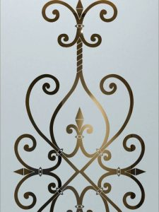 etched glass wrought iron ironwork mediterranean design