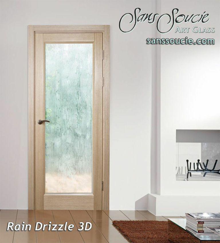 Sandblast Etched Glass Contemporary Design Rain Texture Glass Entry Door  Custom Glass Contemporary Design Texture ...