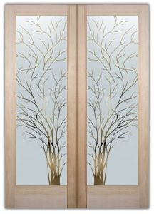 wispy tree interior glass doors