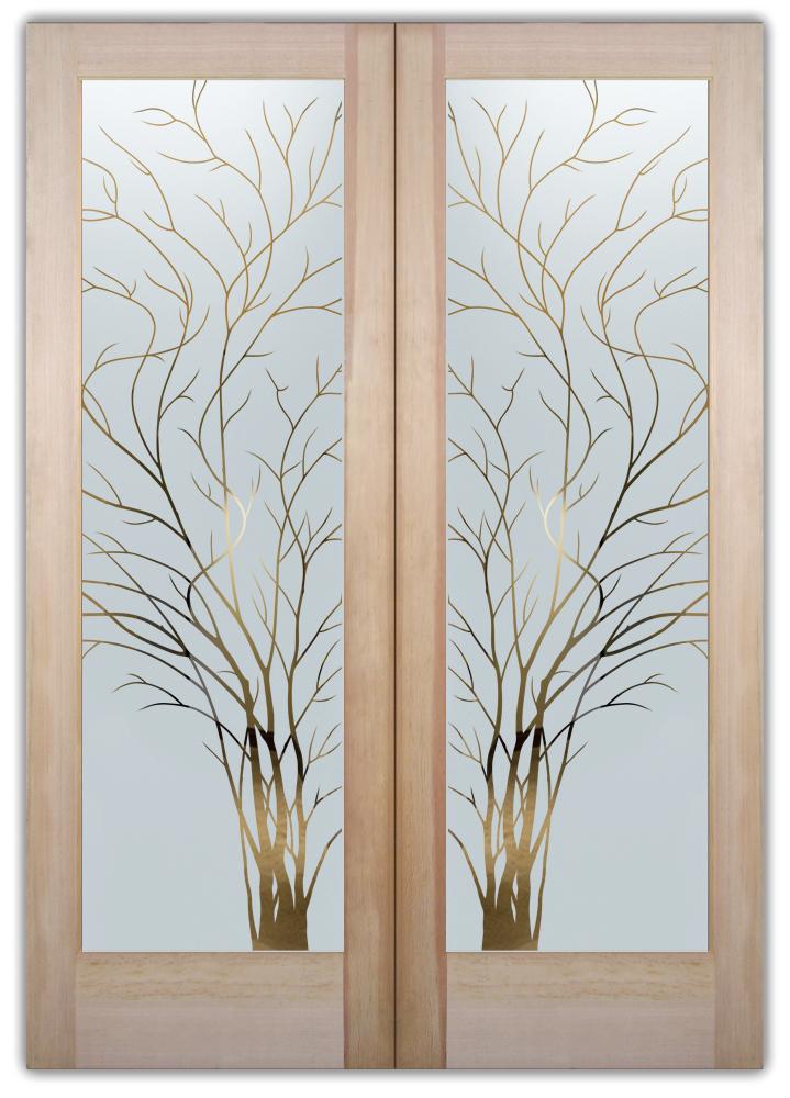 wispy tree interior glass doors