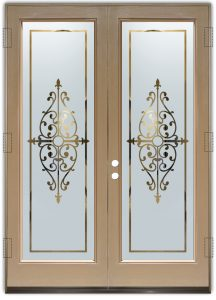 interior doors with glass glass etching decorative iron bars wrought iron tuscan decor sans soucie barcelona