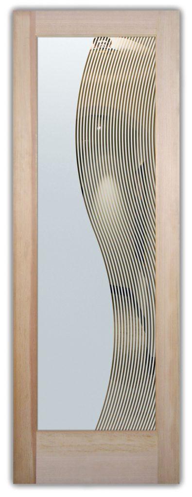 Divise Stripes 1D Negative Etched Glass Door