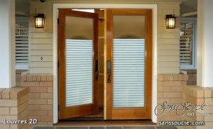 Double Entry Doors Etched Glass Modern Design Contemporary by Sans Soucie