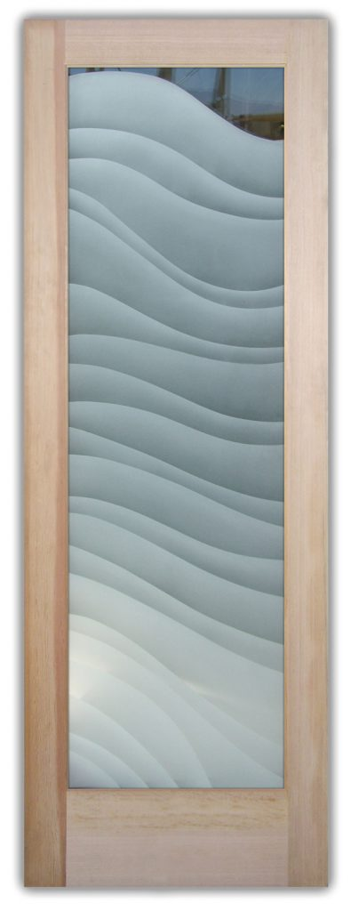 Dreamy Waves 2D Enhanced Etched Glass Doors