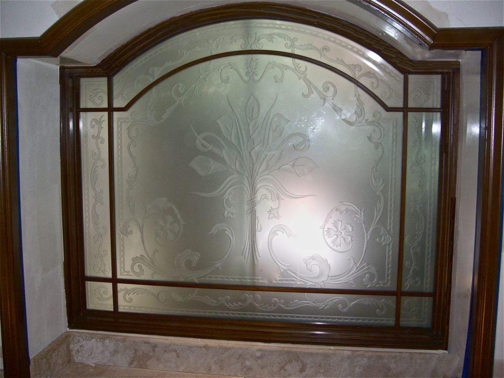 etched glass calla lily window sans soucie