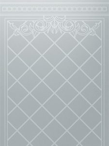 etched glass victorian style geometric patterns squares filigree lattice sans soucie