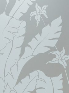 etched glass tropical style leaves foliage natural wonders sans soucie