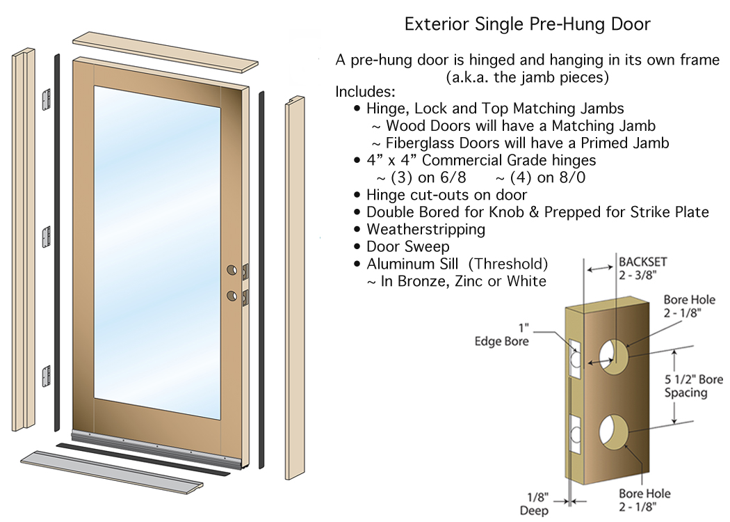 Pre Hung Exterior Door Single