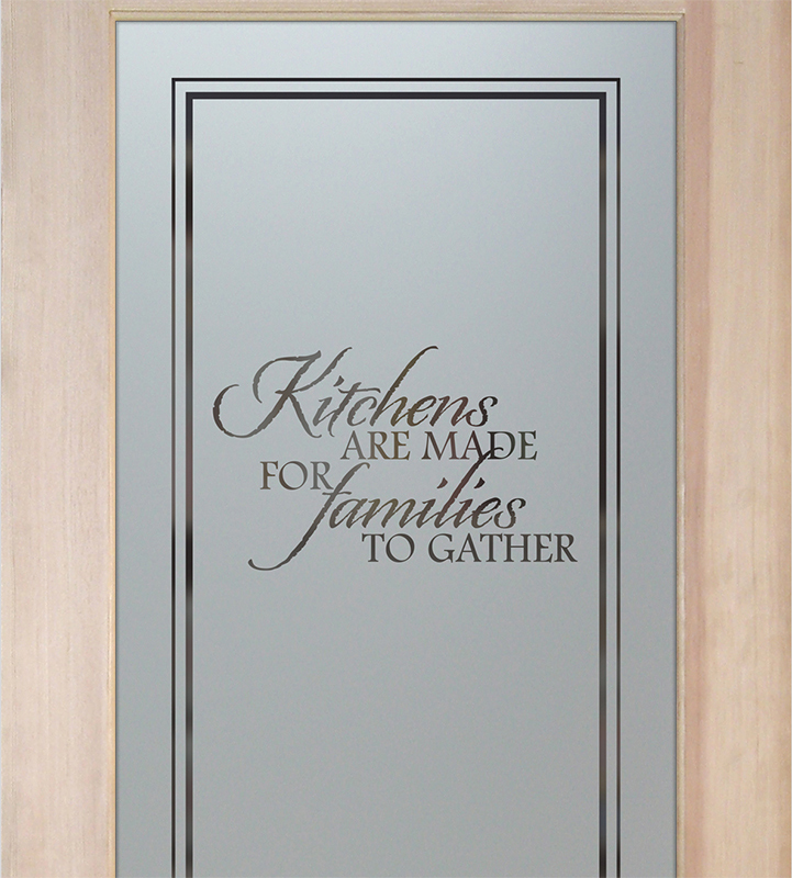 family kitchen pantry door