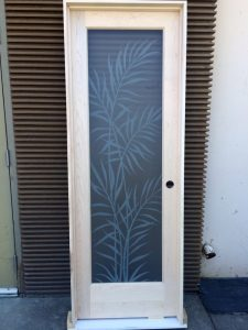 interior Glass Doors Etched Glass Tropical Decor leaves private Ferns Sans Soucie