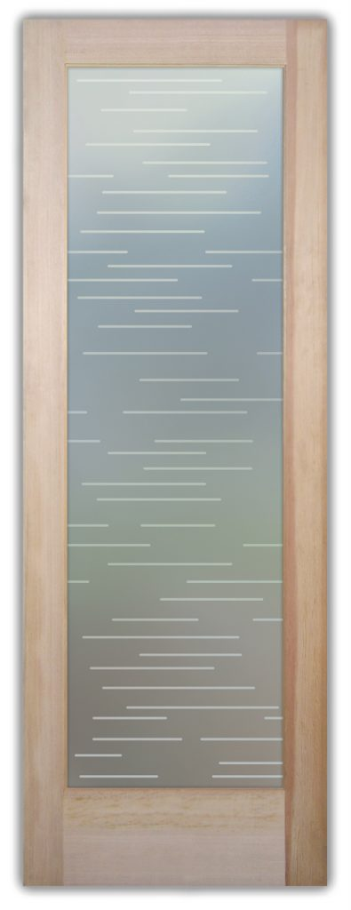 Finer Lines 1D Private Etched Glass Doors