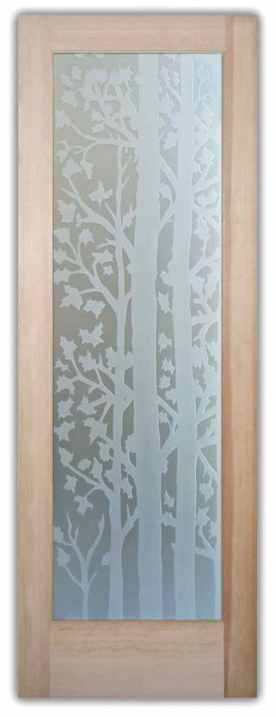 forest trees 3D interior glass doors