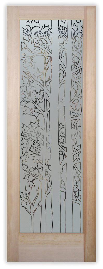 forest trees pantry door
