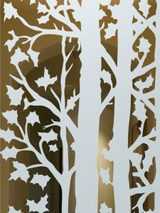 etching glass rustic design wooden outdoors forest trees sans soucie