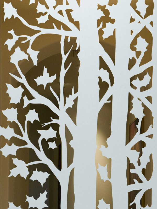 Frst Trees Interior Doors With Glass Etching Rustic Design