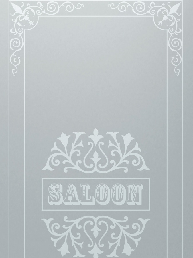 Frosted Glass Western Style Wild West Tavern Saloon Ll Sans Soucie