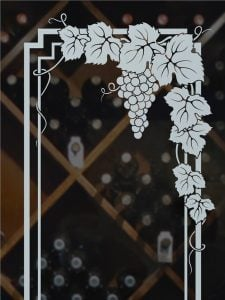 wine cellar doors frosted glass garland sf