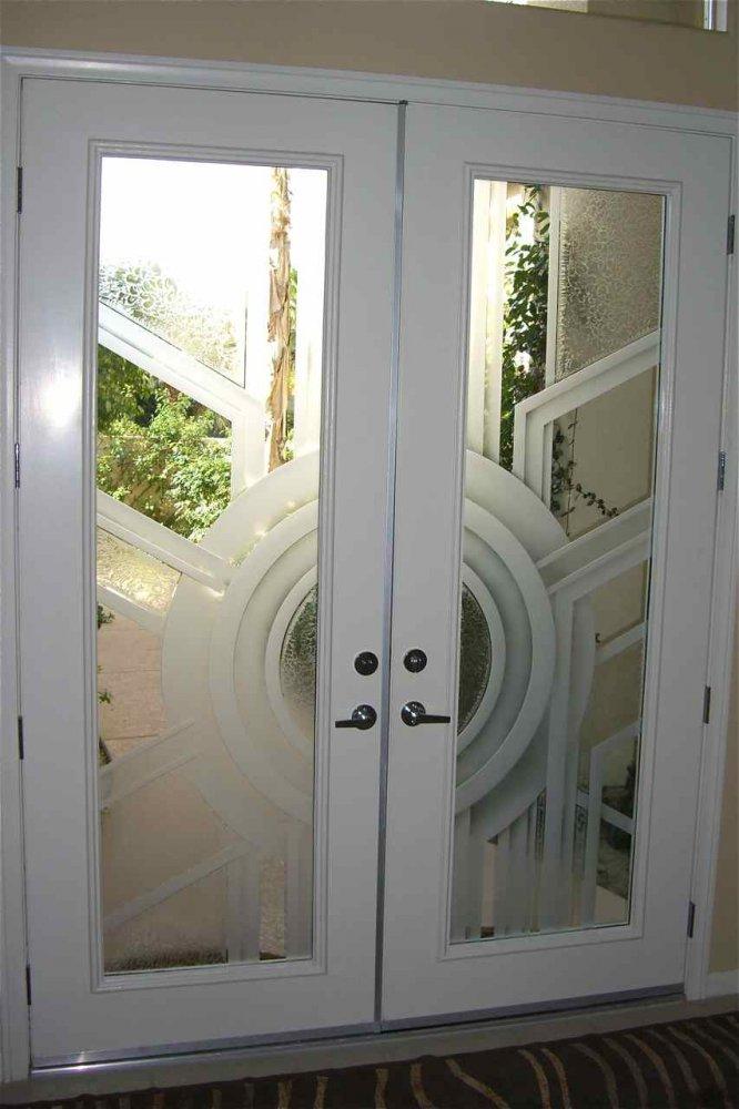 Sun Odyssey 3d Etched Glass Doors Modern Design